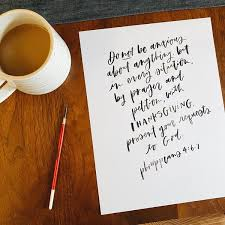 A Bible Verse a Day - A Hand Lettering Challenge - Be A Heart