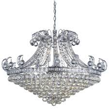 searchlight lighting bloomsbury 8 light stylish chandelier in chrome with clear crystal decoration