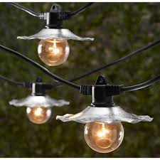 table in a bag outdoor string lights with galvanized shades bulbs not included sl3507
