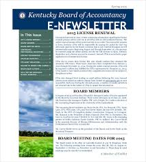 Newletter Example 20 Email Newsletter Templates Free Sample Example