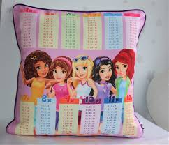 Lego Friends Print Times Tables Chart Pillow Cases