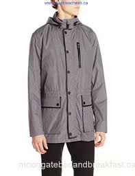 kenneth cole mens leather trim anorak jacket fashion xwmix district clearance discreet acdhoy2569