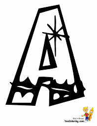 Alphabet Letters To Color Stencils Print Free Printable Pdf