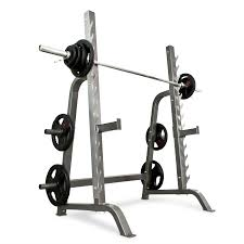 Pair Of Adjustable Standard Solid Steel Squat Stands Barbell Free Squat And Bench Press