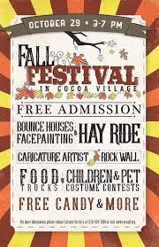 Fall Festival Flier Fall Festival In Cocoa Village Go Port Blog