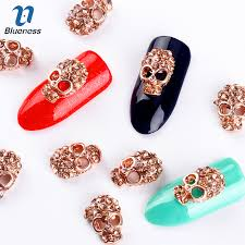 alloy glitter 3d nail art decorations with rhinestones alloy charms jewelry on nails salon supplies