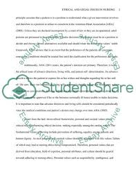 Ethical And Legal Issues In Nursing Essay Example Topics