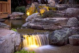 Pond lighting ideas Koi Pond Although Adrianogrillo Water Feature Lighting Aquascapes