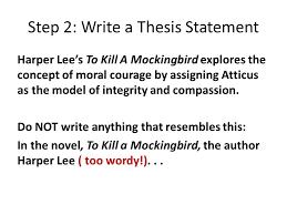 writing a thematic analysis of harper lee s a thesis based essay  step 2 write a thesis statement harper lee s to kill a mockingbird explores the concept
