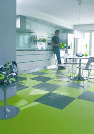 Rubber Flooring Kitchen Flooring Cozy Marmoleum With Paint Kitchen Cabinets And Simple