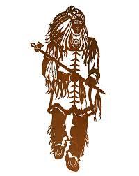 42 indian chief metal wall art