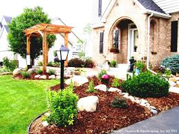 small front yard rock garden ideas design landscaping gallery the