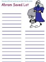 This coloring sheet highlights abraham's encounter with god. Abram And Lot Word Mining Worksheets