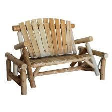 outside glider chair.  Glider Lakeland Mills Natural Cedar Porch Glider Inside Outside Chair I