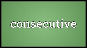 Image result for consecutive