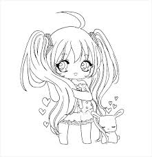Chibi Coloring Pages Easy Anime Inspirational Templates Marvelous