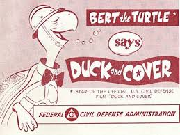 Image result for duck and cover warning sign