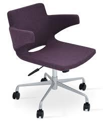 Nevada Arm Office Chair Base A3 Deep Maroon Camira Wool Buy
