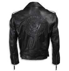 leather jacket ramones black nnm