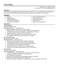 Resume Examples 10 Free Samples Film Resume Template Download