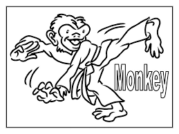 Monkey Coloring Pages Free For Kids Free Printable Coloring Pages