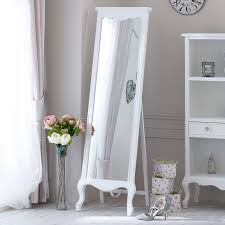 tall standing mirrors. Tall Free Standing Cheval Mirror - Elise White Range 50cm X 168cm Mirrors