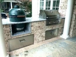 big green egg outdoor kitchen built in best ideas on island