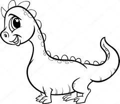 Cartoon Draak Karakter Kleurplaat Stockvector Izakowski 51191289