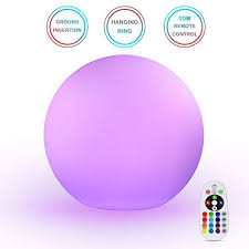led ball light 16 colors mood lamp orbs night light with rechargeable 10m wireless