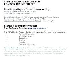 Sample Of Federal Resume Federal Resume Template Here Are Writing A ...