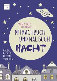 Mitmachbuch Und Malbuch Nacht 3 7 Jahre Von Vicky Bo