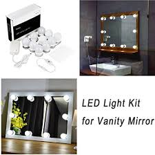 bathroom led lighting kits. WanEway Hollywood Style LED Vanity Mirror Light Kit For Makeup Cosmetic Dressing Table With Dimmer And Bathroom Led Lighting Kits G