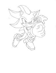 Super Sonic Coloring Pages Super Sonic And Super Shadow And Super