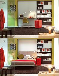 multifunctional furniture for small spaces. furniturecompact master bedroom design ideas with multi purpose hidden bed added simple floating black desk and ergonomic yellow banquette on large multifunctional furniture for small spaces