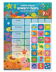 Sealife Friends Reward Chart With Stickers