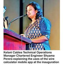 Kelani Cables Introduces Wire Calculator Mobile App Daily Ft