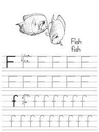 preschool letter f worksheets e