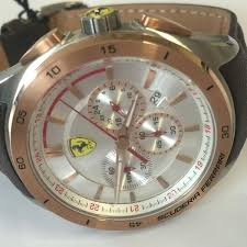 amazing deals on designer mens watches uk delivery rose gold stainless steel leather strap mens ferrari sf830190 gran premio watch
