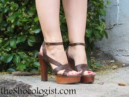 bebe strappy leather sandals with chunky wooden platform