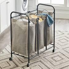 better homes gardens metal grey rolling 3 bag laundry sorter com