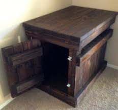 wooden dog crate furniture. Dog Crate Nightstand Wooden Furniture