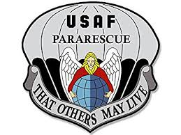 usaf pararescue that others may live seal shaped sticker air force