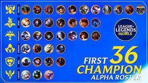 LoL : Wild Rift รายชื่อ 36แชมเปี้ยน ที่จะเปิดให้ผู้เล่นได้ทดสอบในช่วง Alpha  Test พรุ่งนี้ !!