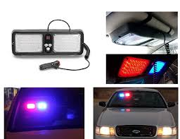 Sun Visor Police Lights Spedy Car Sun Visor 12 Modes Police Style Lights Red Blue