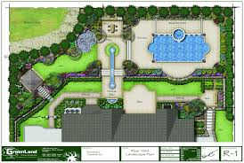 Residential Layout Design Software A Full Rendered Landscape Plan For A Residence In Alpine Nj