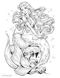 Printable Mermaid Coloring Pages Free Little Sheets To Print M
