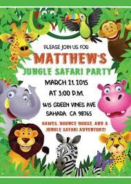 Safari Party Invitations Safari Birthday Invitations Jungle Themed Birthday Invitations