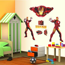 Marvel Comic Bedroom Aliexpresscom Buy 76100cm Iron Man Wall Stickers For Kids