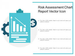 Risk Assessment Chart Report Vector Icon Ppt Powerpoint