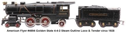 american flyer trains when american flyer standard gauge 4694 steam locomotive 4692 golden state tender american